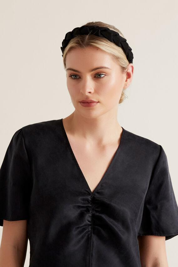 Plaited Headband  BLACK  hi-res