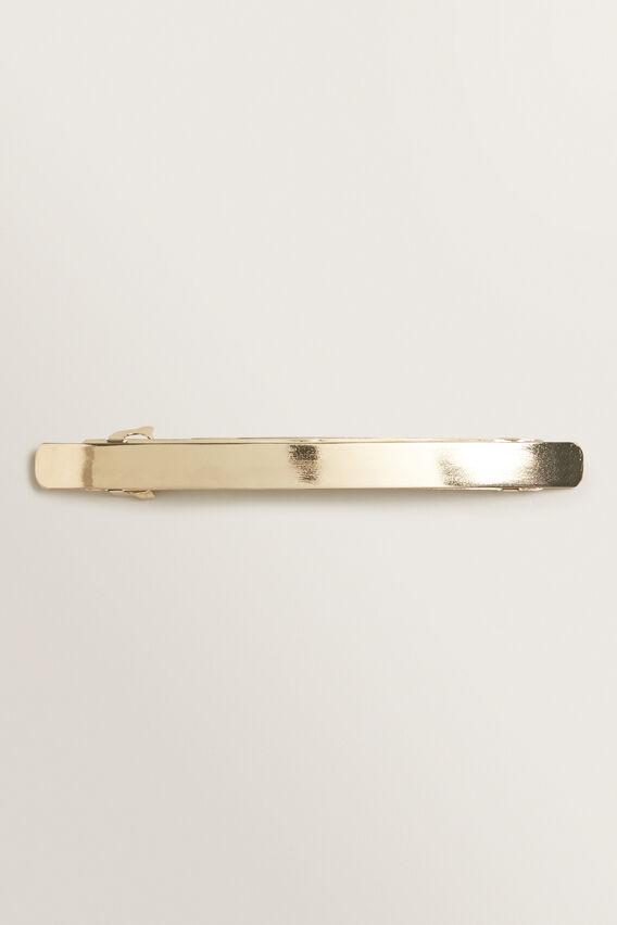 Long Metal Barrette  GOLD  hi-res
