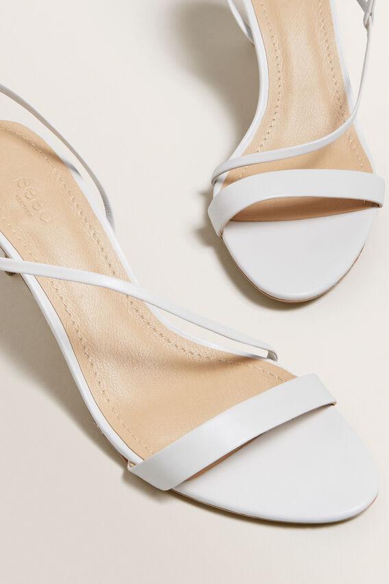 Meghan Heeled Sandal  WHITE  hi-res