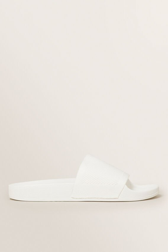 Knitted Slides  WHITE  hi-res
