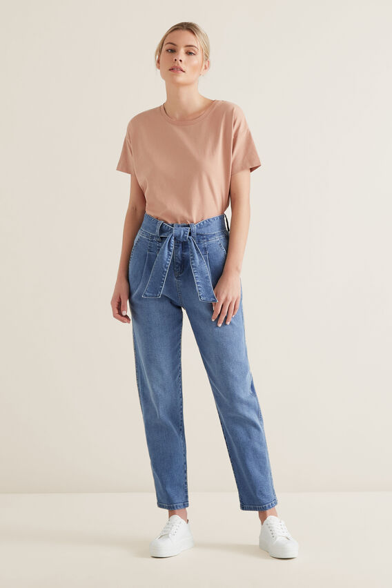 Tie Up Denim Pant  CLASSIC DENIM  hi-res