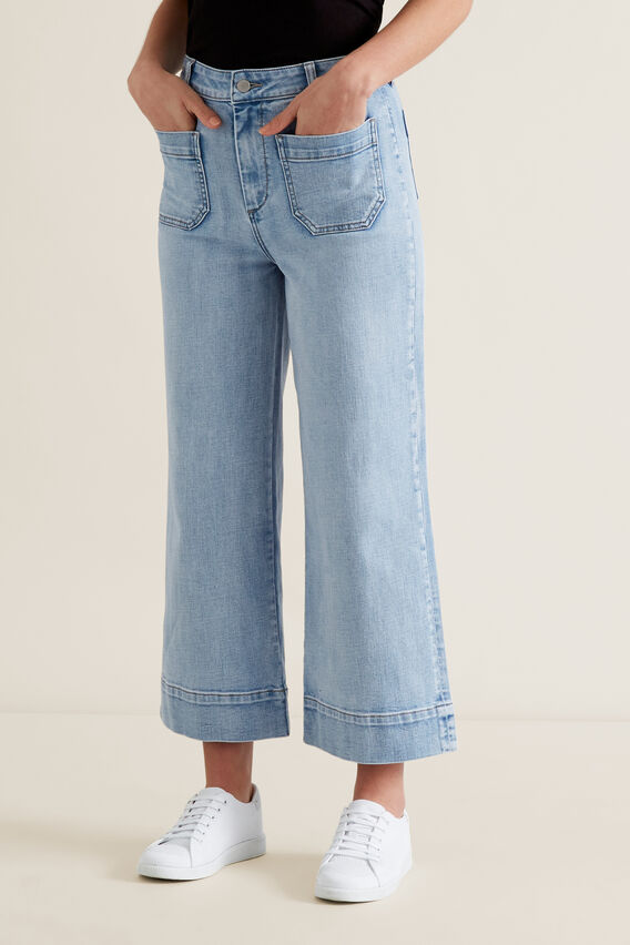 Mini Pocket Denim Pant  LIGHT WASH DENIM  hi-res