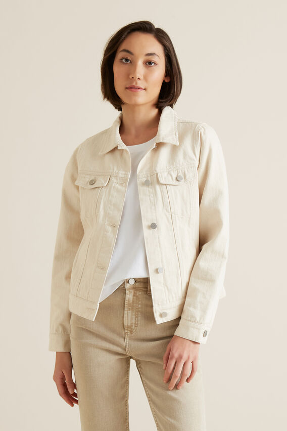 Casual Denim Jacket  OYSTER DENIM  hi-res