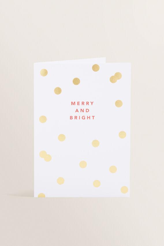 Greeting Card  MERRY & BRIGHT  hi-res