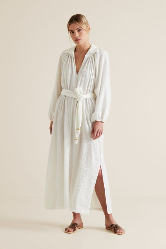 Relaxed Crinkle Maxi  CLOUD CREAM  hi-res