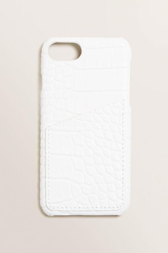 iPhone Case 6/7/8  WHITE CROC  hi-res