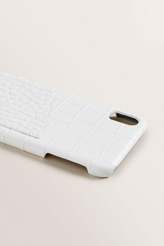 iPhone X/XS Max  WHITE CROC  hi-res