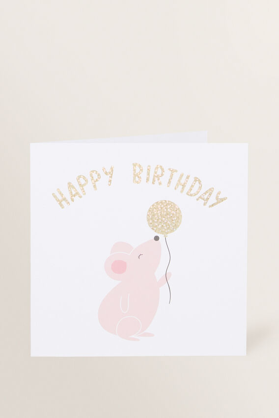 Large Happy Birthday Mouse Card  MULTI  hi-res