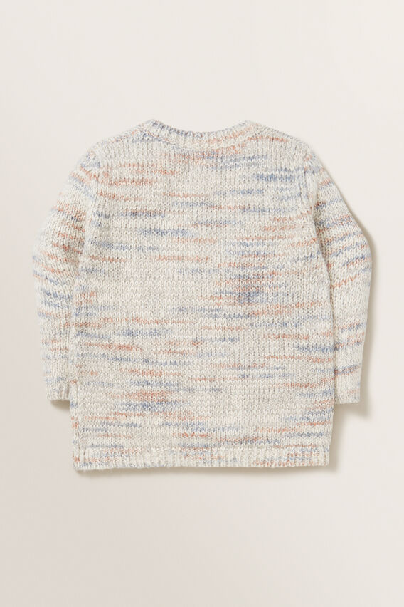 Space Dye Knitted Cardigan  MULTI  hi-res