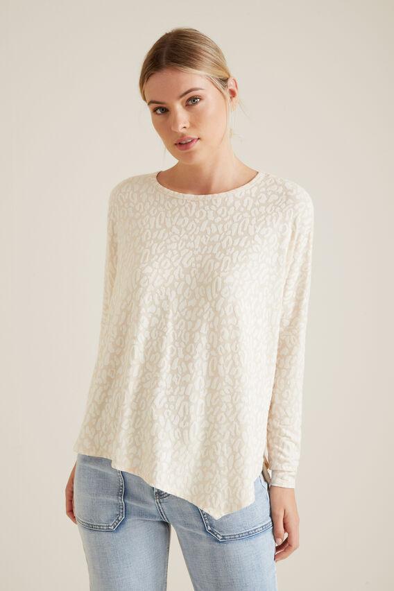 Ocelot Asymmetrical Sweater  SOUFFLE OCELOT  hi-res