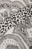 Paisley Leopard Scarf  BLACK/WHITE  hi-res