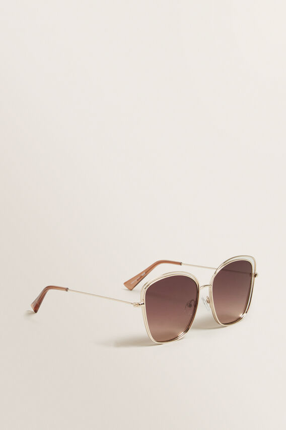 Ivy Metal Frame Sunglasses  GOLD  hi-res