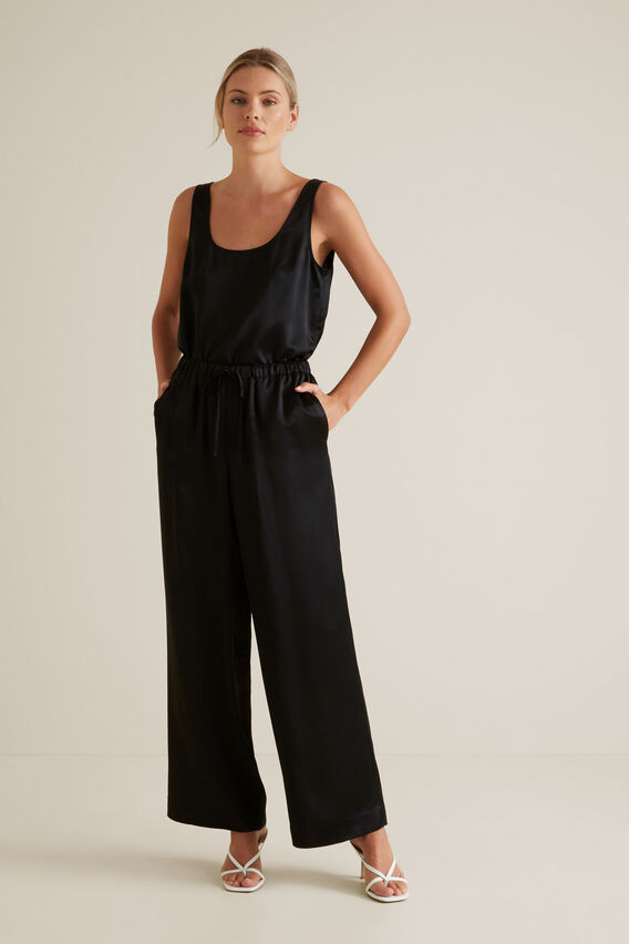 Fluid Wide Leg Trouser  BLACK  hi-res