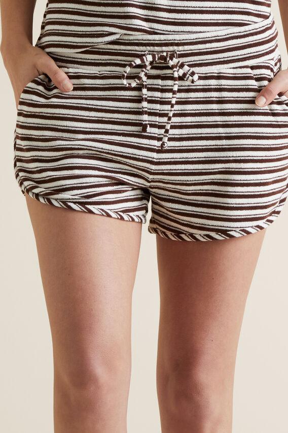 Textured Jersey Short  RAISIN STRIPE  hi-res