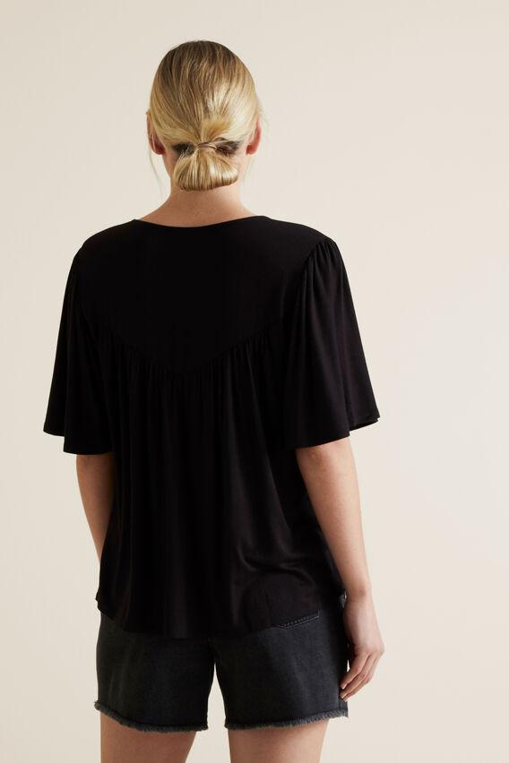 Flutter Sleeve Tee  BLACK  hi-res