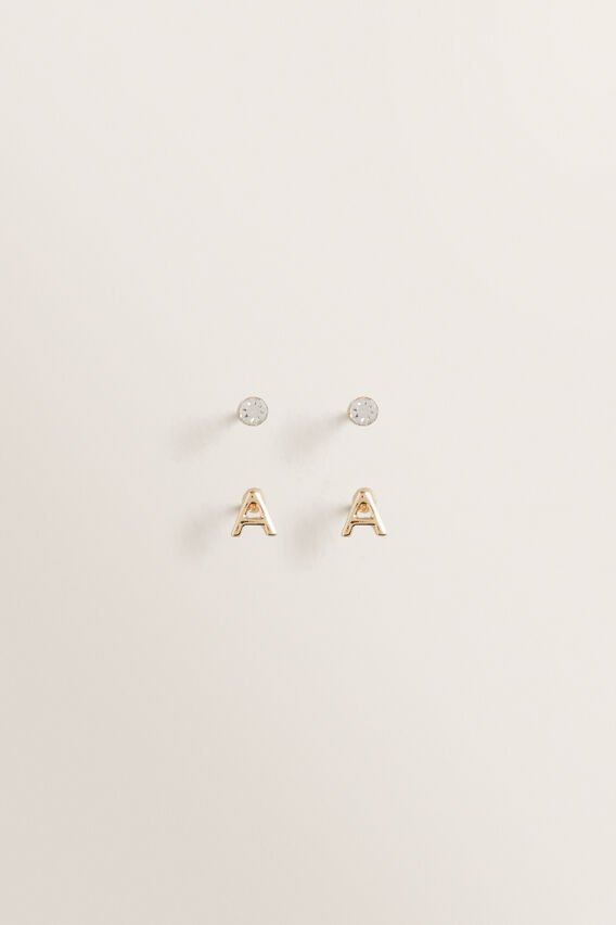 Initial Earring Pack  A  hi-res