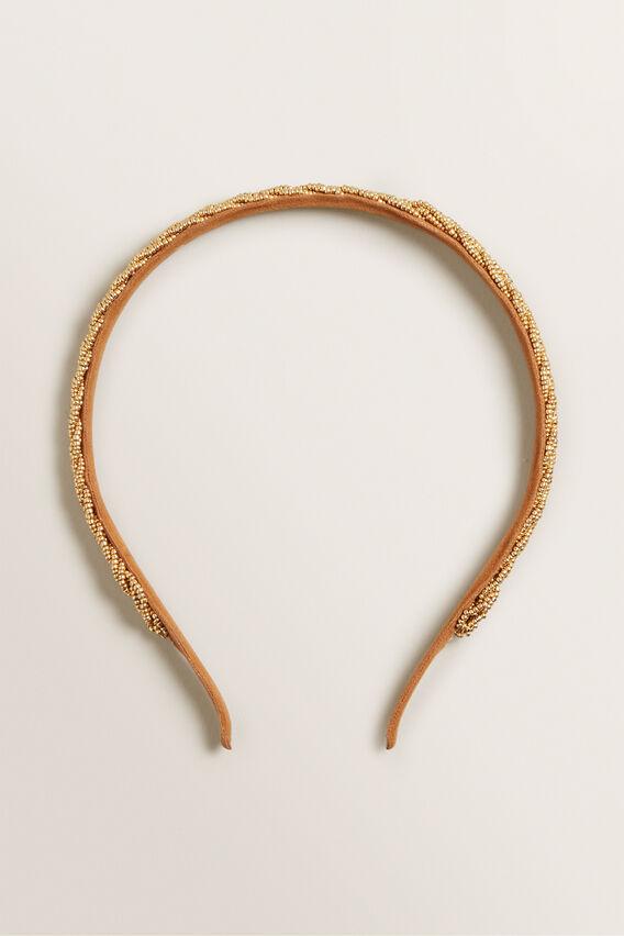 Bead Headband  GOLD  hi-res
