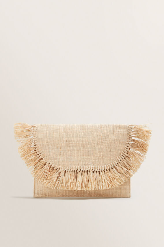 Fringe Clutch  NATURAL  hi-res