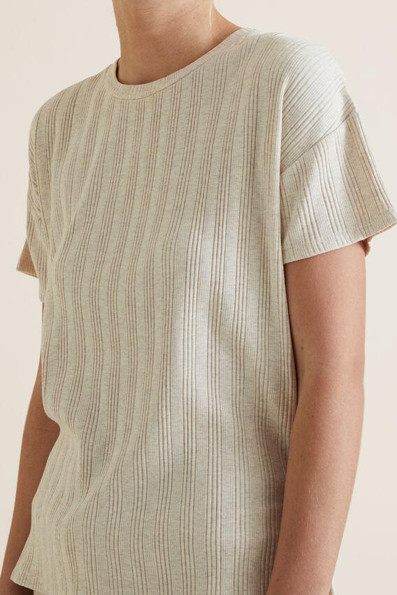 Sleep Rib T-Shirt Set  SANDSTORM  hi-res