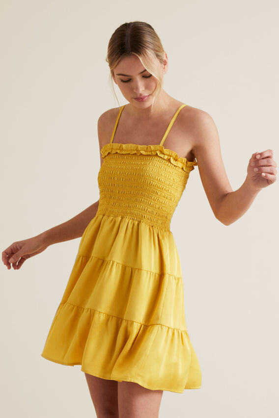 Textured Stripe Mini Dress  GOLD RUSH  hi-res