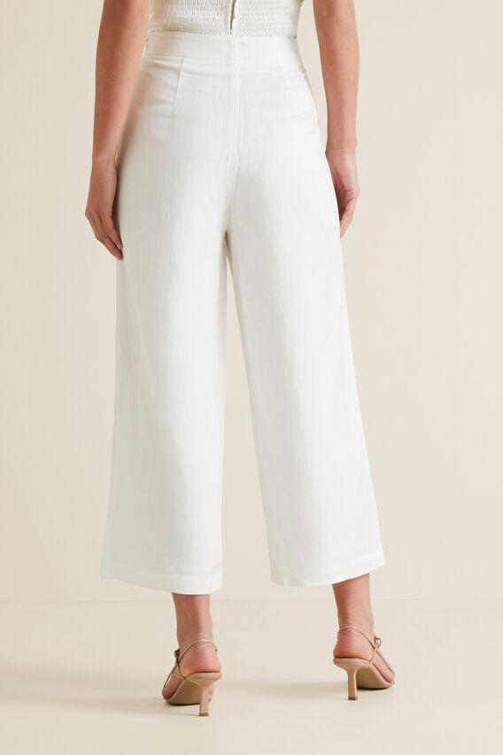 Button Front Trouser  CLOUD CREAM  hi-res