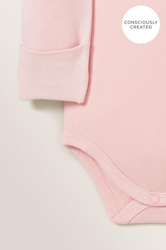 Organic Mitten Bodysuit  BLUSH PINK  hi-res