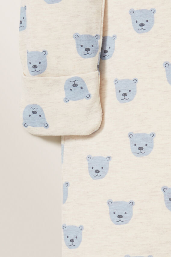 Bear Zipsuit  STRAW MARLE  hi-res