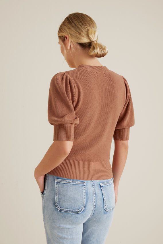 Puff Sleeve Top  RED DESERT  hi-res