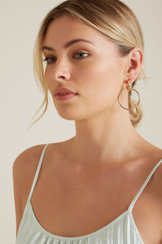 Double Gold Hoops  GOLD  hi-res