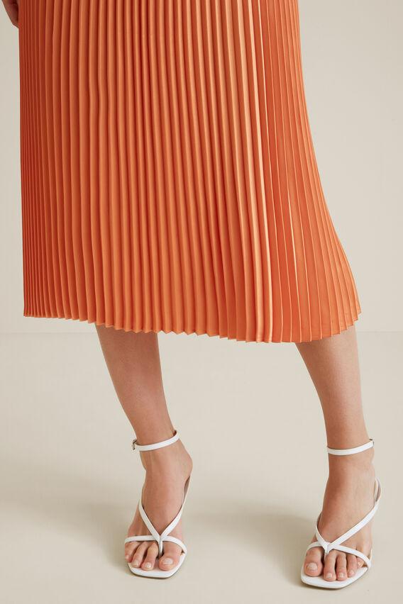 Pleat Midi Skirt  SOFT CORAL  hi-res