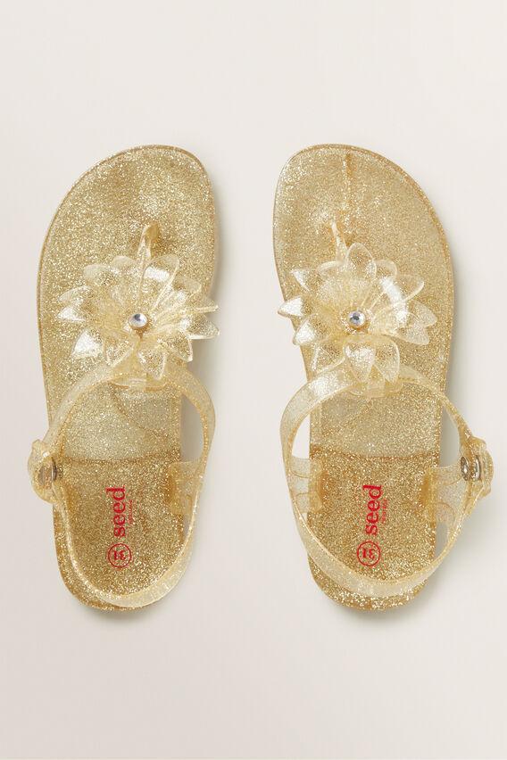 Flower Jelly Sandal  GOLD  hi-res