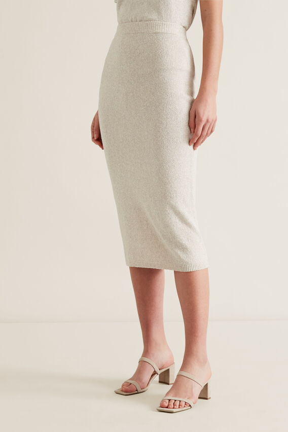 Knitted Tube Skirt  ARCTIC MARLE  hi-res