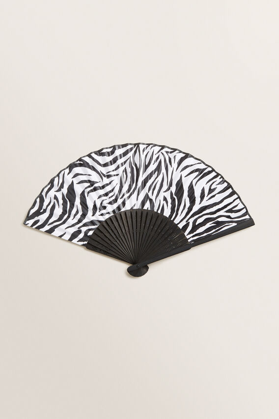 Printed Paper Fan  ZEBRA  hi-res