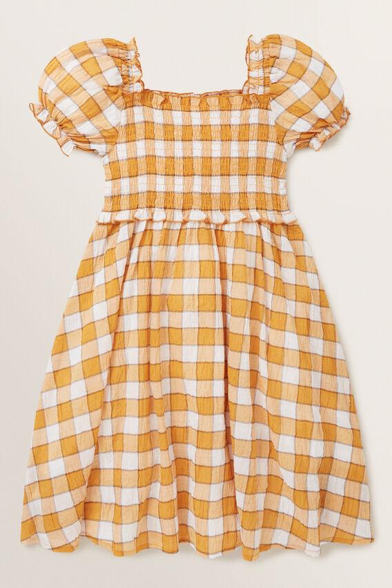 Check Dress  OCHRE  hi-res