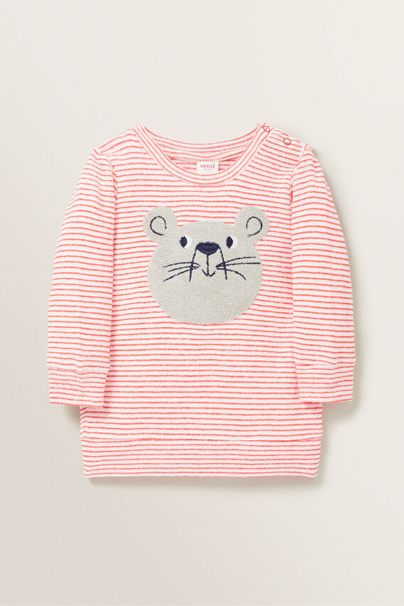 Chenille Mouse Windcheater  BERRY  hi-res