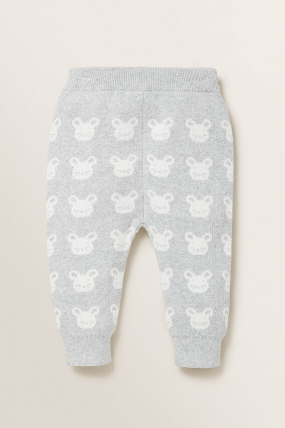 Knitted Mouse Jacquard Pant  BIRCH MARLE  hi-res