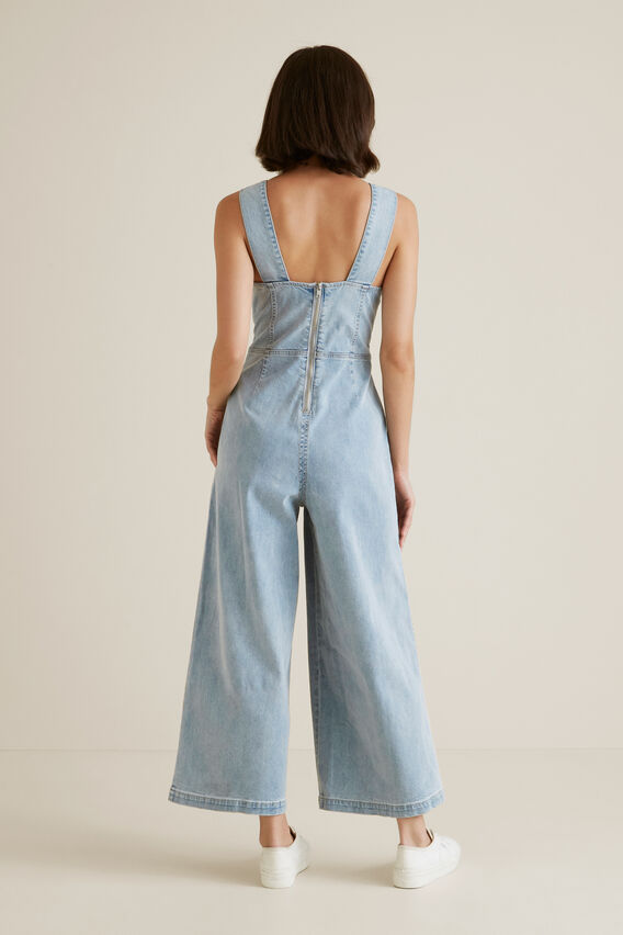 Denim Jumpsuit  LIGHT WASH DENIM  hi-res