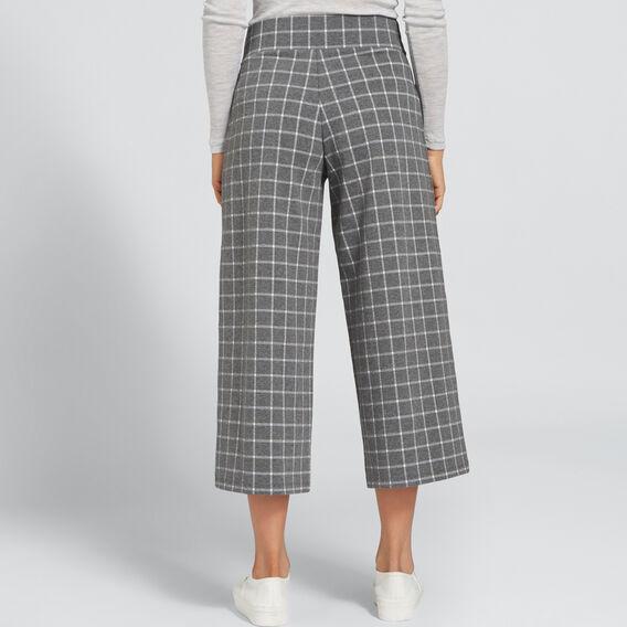 Wide-Leg Jersey Pant  CHECK  hi-res