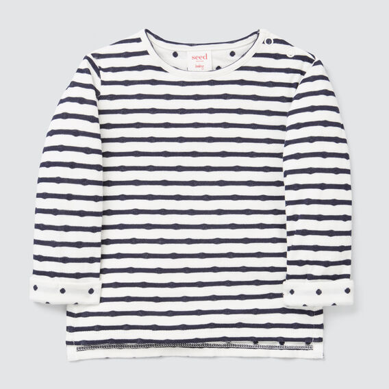 Double Knit Tee  NAVY/CANVAS  hi-res