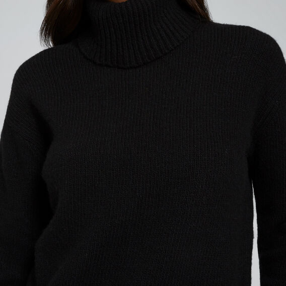 Cashmere Roll Neck Knit  BLACK  hi-res