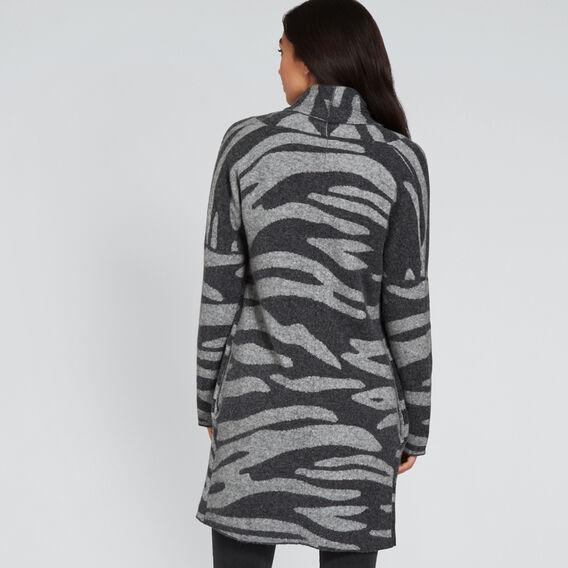 Zebra Print Cardigan  GREY ZEBRA  hi-res