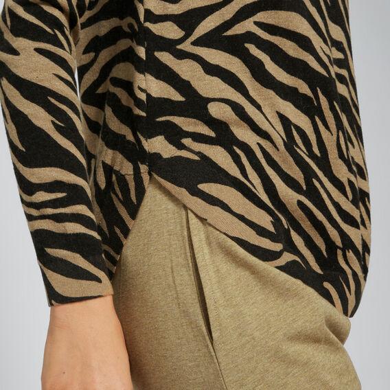 Raglan Zebra Sweater  ZEBRA PRINT  hi-res