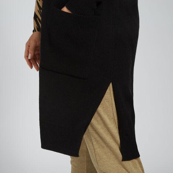 Longline Cardigan  BLACK  hi-res