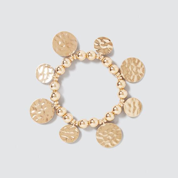 Beaded Coin Bracelet  GOLD  hi-res
