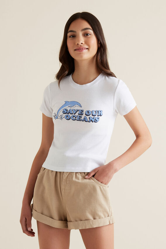 Ocean Tee  WHITE  hi-res