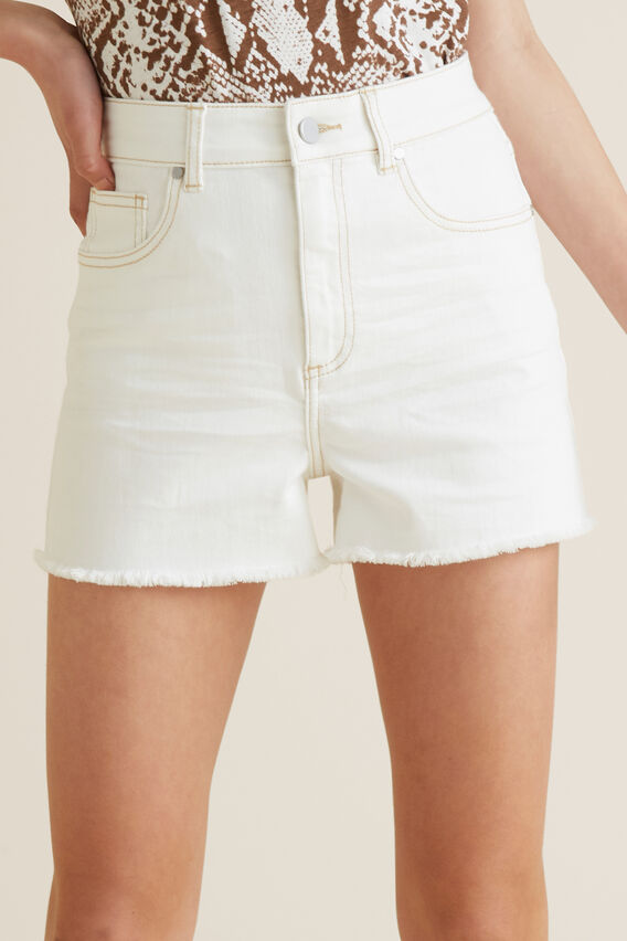 Denim Short  WHITE WASH  hi-res