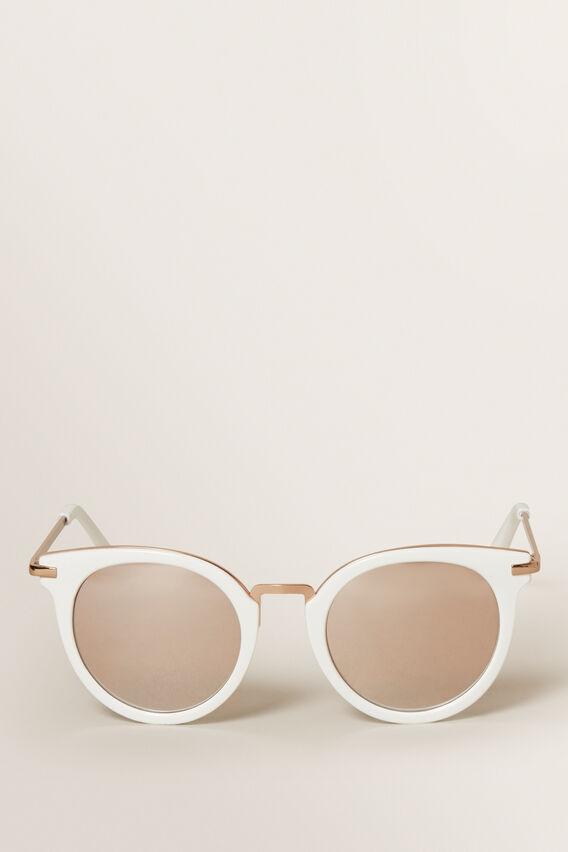 White Frame Sunglasses  WHITE  hi-res