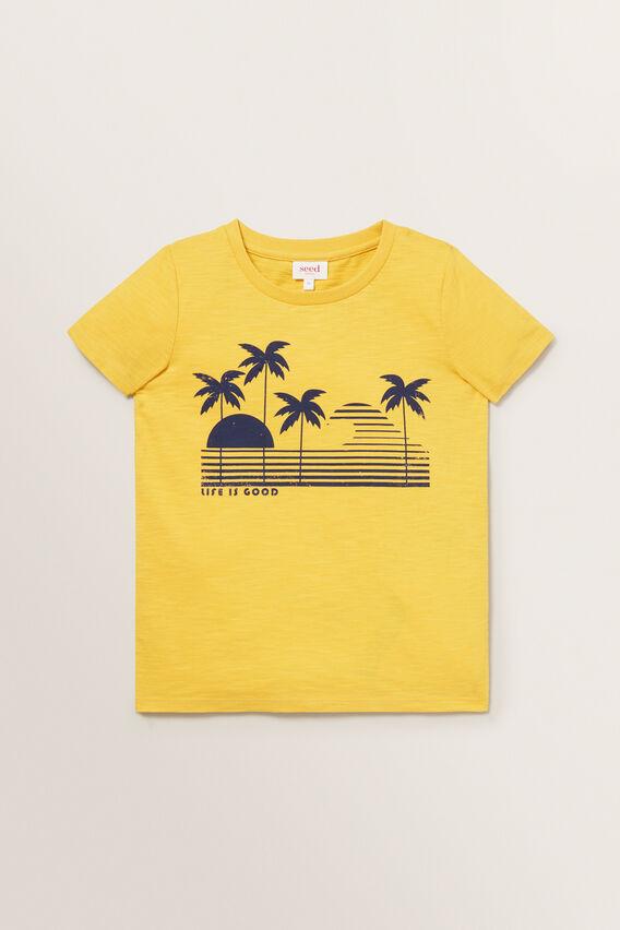 Beach Print Tee  MARIGOLD  hi-res