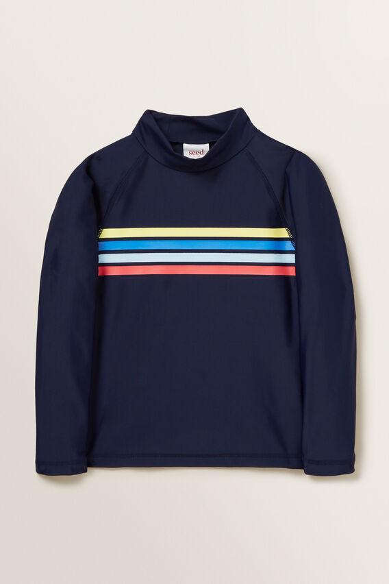 Retro Stripe Rashvest  MIDNIGHT BLUE  hi-res