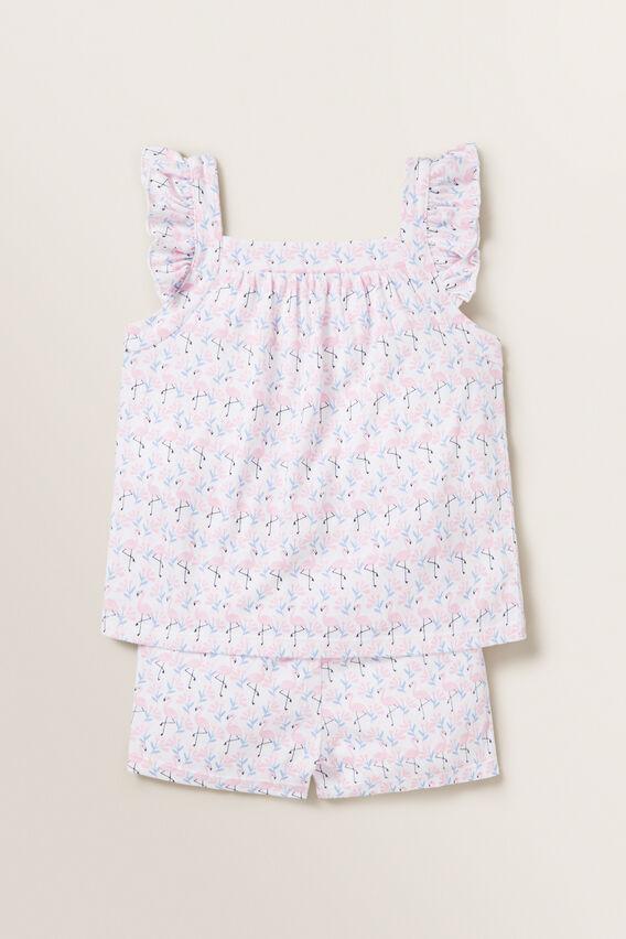 Flamingo Frill Pyjamas  MULTI  hi-res